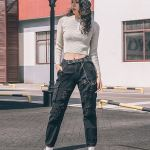 Ripped Cargo Pants With Chain
