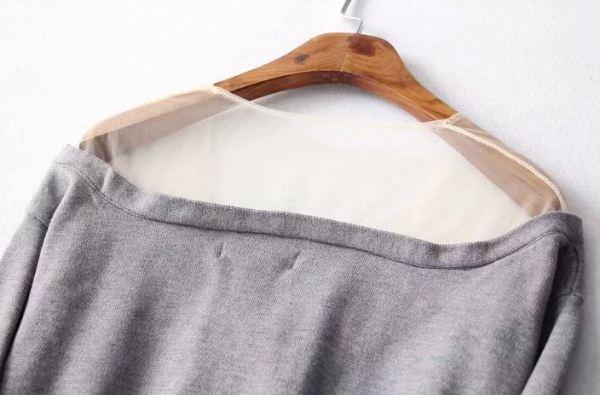 Shoulder Free Long Sleeved Cardigan