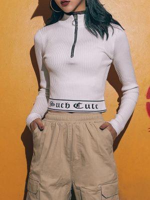 Such Cute Short Zipper Shirt (1)