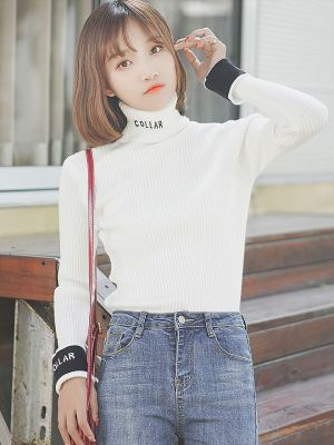 Turtleneck with Coloured Cuffs (1)