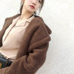 Brown Teddy Bear Coat | Hyuna