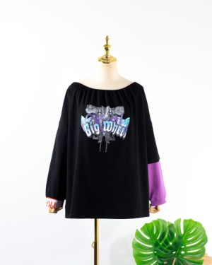 IU Off-Shoulder Big Wheel Sweater (12)