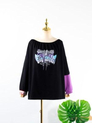 IU Off-Shoulder Big Wheel Sweater (12)