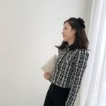 Collared Plaid Shirt Jacket | Jennie – BlackPink