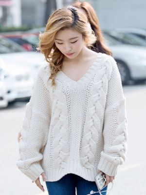 Oversize Knitted Sweater  | Wheein – Mamamoo