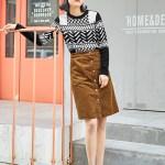 Patterned Black and White Sweater | Baekhyun – EXO