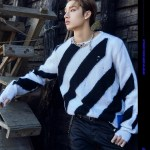 Striped Hedging Sweater | Bang Chan – Stray Kids