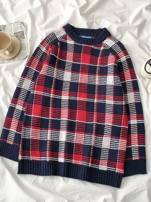 Chaeryoung Large Plaided Sweater 4