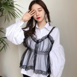 See-through Black Lace Top | Chaeyoung – Twice