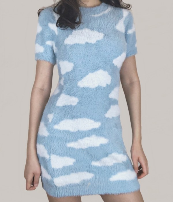 Sky Clouds Short Dress   Chaeyoung – Twice