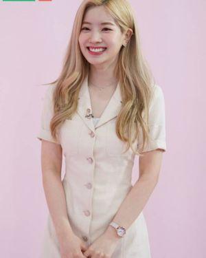 Classic Style Khaki Color Dress | Dahyun – Twice