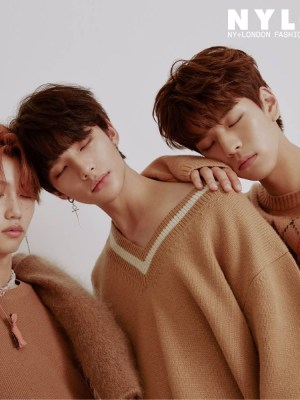 Camel Tone V-neck Sweater | Hyunjin – Stray Kids