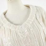 Shiny Sequined Big Knots Sweater | IU