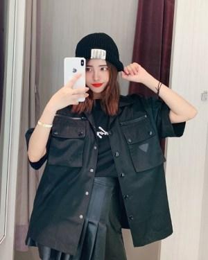 Jaehyun Black Nylon Cargo Style (2)