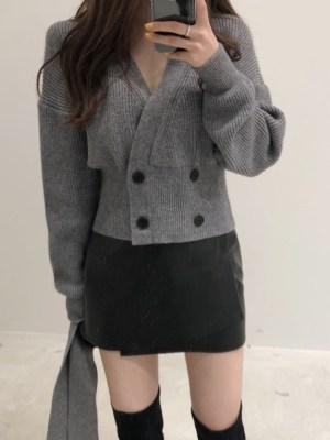 Jihyo Double Knit Cropped Cardigan (5)