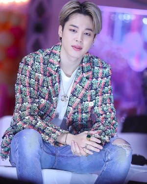 Retro Style Green and Orange Cardigan | Jimin – BTS