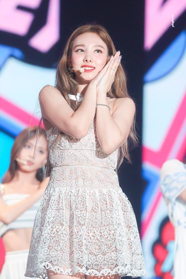 Cross Halter Lace Dress | Nayeon – Twice