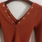 Pressed Studs Body Fit Sweater | Nayeon – Twice