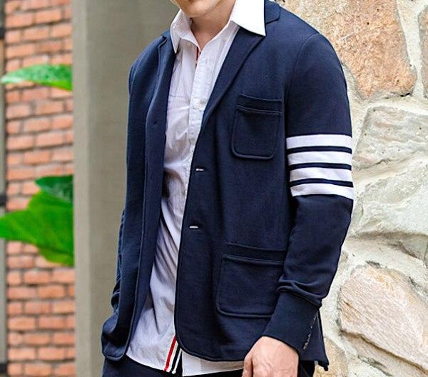 Tri-button with Multiple Stripes Oversize Suit   Jimin – BTS