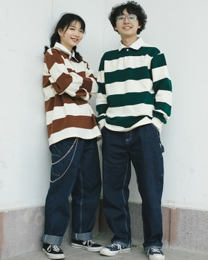 Seungmin Retro Stripe Long Sleeve Shirt 1
