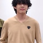 Classic Sweater with Heart Patch Pullover | Taehyung – BTS