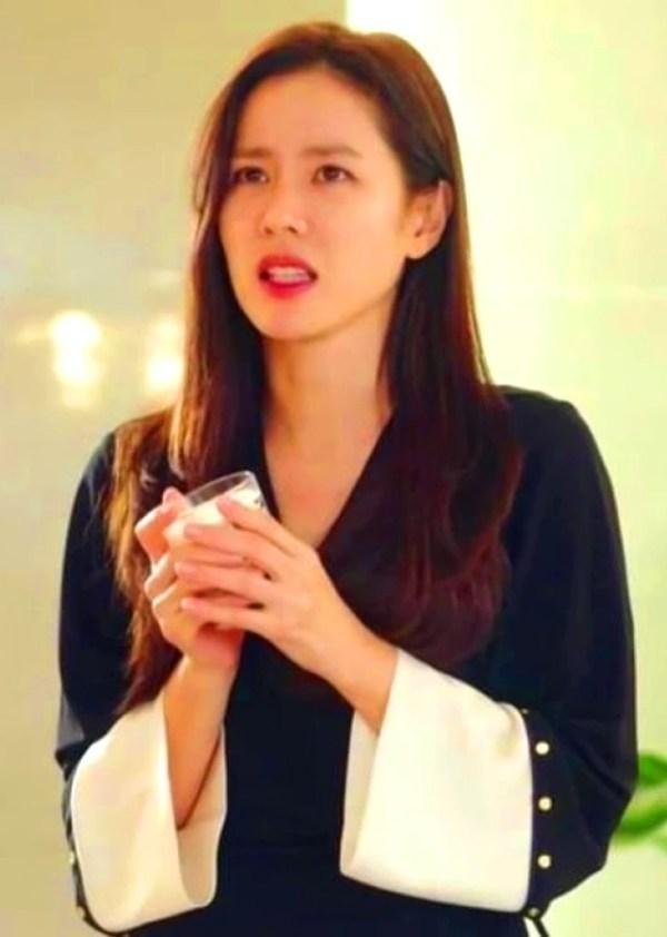 Black And White Drape Dress | Yoon Se Ri – Crash Landing On You