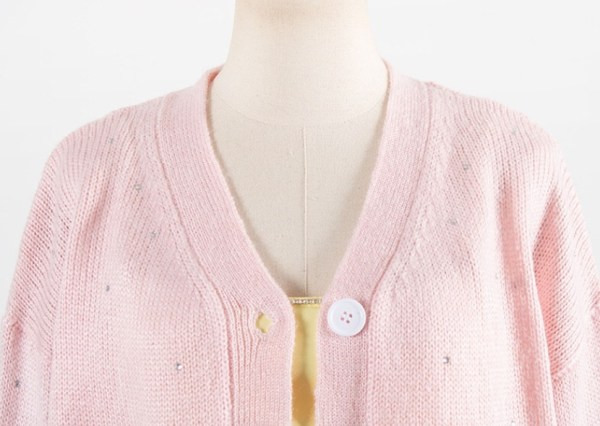 Embellished Crystals Pink Cardigan | Yoon Se Ri – Crash Landing On You