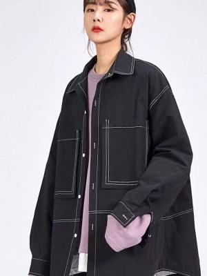 Jang Geun Soo Black Denim Long Sleeve Shirt 1