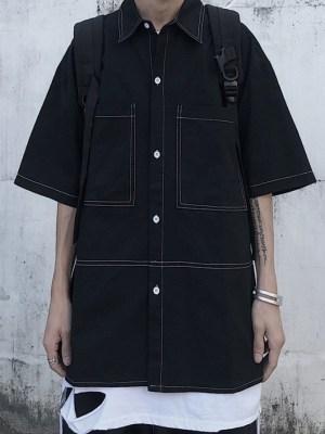 Jang Geun Soo Black Denim Long Sleeve Shirt (9)