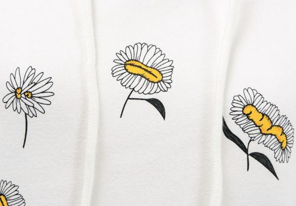 Circular Daisy White Hoodie | Jennie – Blackpink