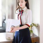 Chiffon Poplin Long Sleeve Shirt | Jisoo – Blackpink