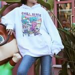 Chill Since 1993 Pink T-Rex Hoodie | Lisa – Blackpink