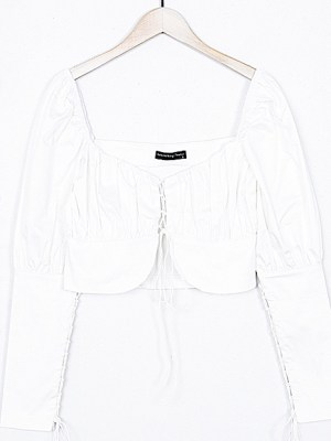 Lisa Corsage Linear Cropped Shirt 10