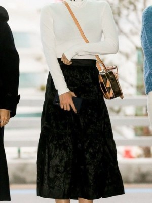 Black Crumpled Layered Skirt | Momo – Twice