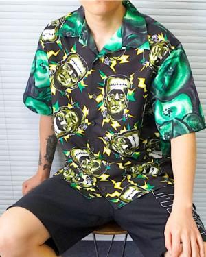 Taeyong Frankenstein Short Sleeved Collar Shirt 1