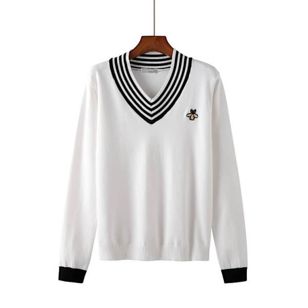 Multi Stripes V-neck Knitted Sweater   Jaehyun – NCT