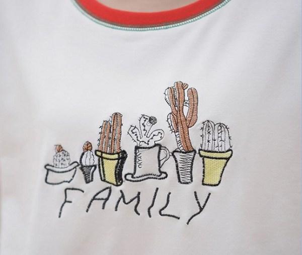 Cactus Family Printed T-shirt