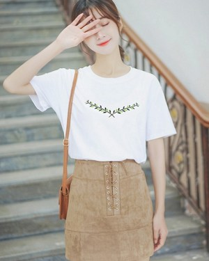 Embroidered White T-shirt (6)