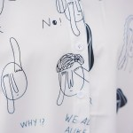 Funny Doodled Whit Long Sleeve Shirt