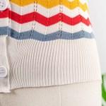 Multicolored Zigzag Stripes Sleeveless Top | IU
