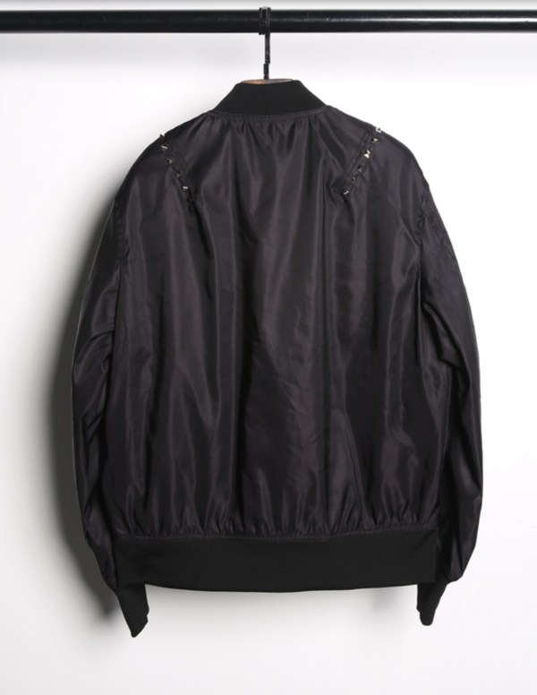 Square Studs Classic Black Bomber Jacket | J-hope – BTS