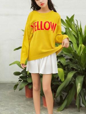 Jin Yellow Print Wool Sweater (4)