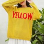 Yellow Print Wool Sweater | Jin – BTS