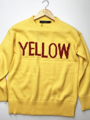Jin Yellow Print Wool Sweater (8)