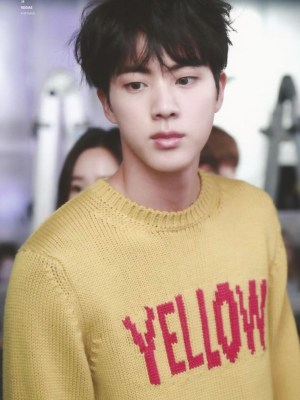 Yellow Print Wool Sweater | Jin – BTS