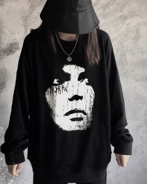 Kai White Face Black Sweater 00001