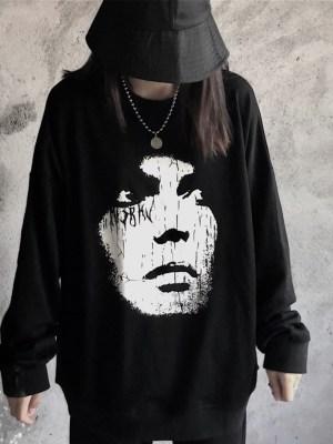 Kai White Face Black Sweater 00001