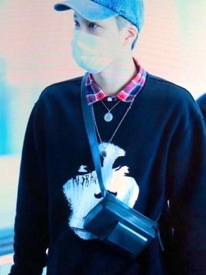White Face Black Sweater | Kai – EXO
