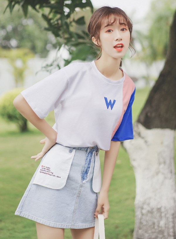 Letter Print Short-Sleeved T-Shirt