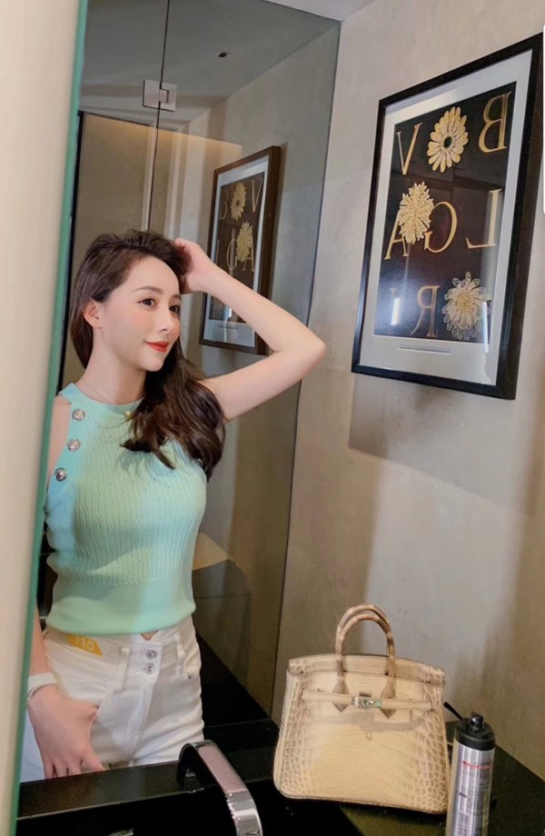 Buttoned Mint Haltered Cropped Top | Momo – Twice